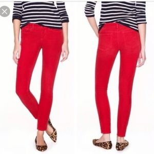 J. Crew Red Matchstick Straight Leg Jeans Size 28